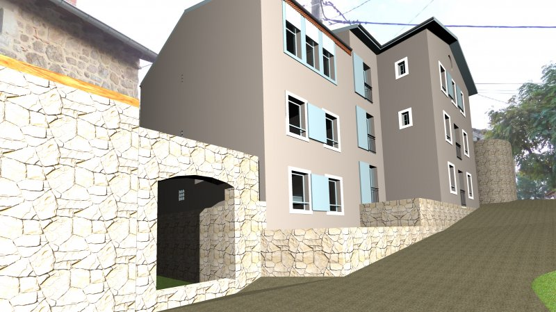 construction d un ensemble de 8 logements quintenas ard che arcature scp d 39 architecture. Black Bedroom Furniture Sets. Home Design Ideas